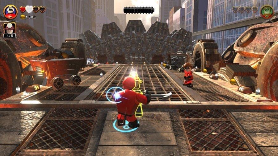 Switch「レゴ インクレディブル・ファミリー」のバトル開始画面