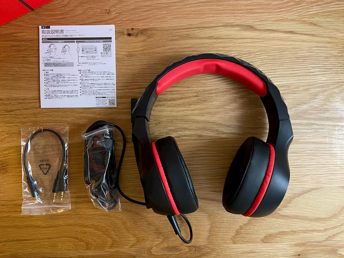 「HS-G01BK」の付属品