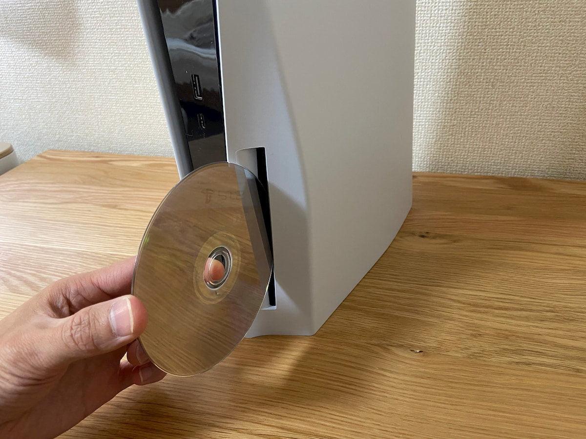 PS5の正しいディスクの挿入