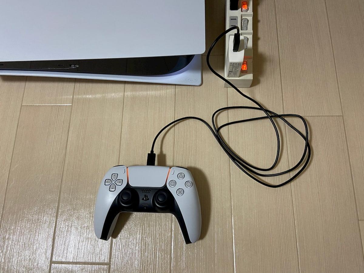 コンセントからコントローラーを充電