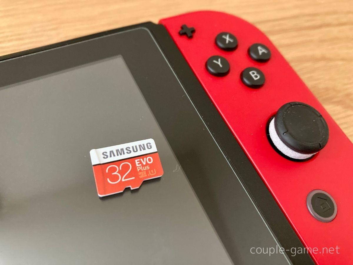 SwitchとmicroSDカード