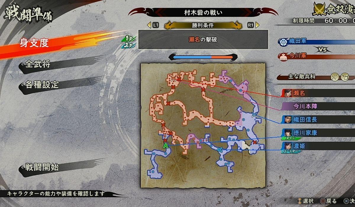 協力プレイ時の戦闘準備の画面
