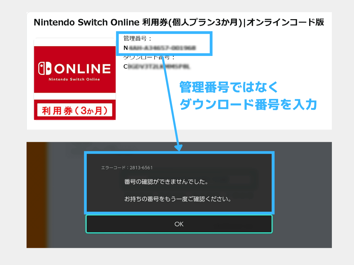 Switchのエラー画面